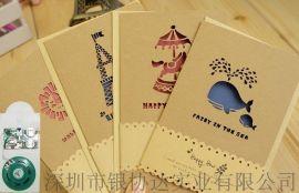 音樂賀卡機芯 電子機芯 賀卡定做 生日節日賀卡 閃燈發光卡片