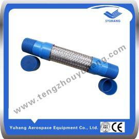 两端外螺纹连接的高压金属编织软管,宇航高温不锈钢灵活软管