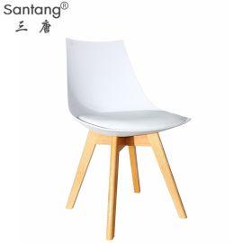 批发1761B伊姆斯餐椅北欧实木椅子创意休闲靠背椅办公会议椅