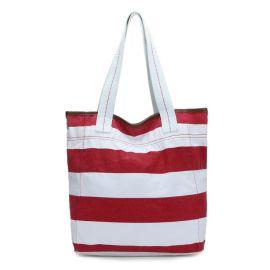 FLY002紅白條紋帆布包(女裝休閒系列)