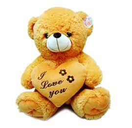 专业的毛绒玩具厂家生产各种抱心熊 棕色公仔 可以来图来样定做