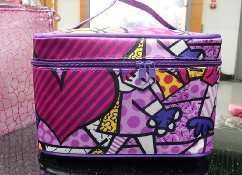 工厂定做欧美风化妆包 化妆盒  pu潮化妆包可定制LOGO
