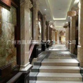 能源之星混批雕刻凰丽建筑可以加印LOGO罗马柱摆饰玻璃钢彩绘订做
