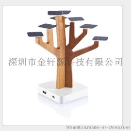 热销欧美XD树形太阳能手机充电器 树形太阳能移动电源