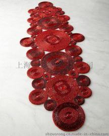 串珠餐垫 珠绣餐垫 手工绣珠餐垫 珠珠餐垫