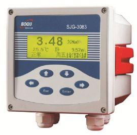上海博取3083型工业在线酸碱浓度计带温补铸铝壳体中英文操作多参数同屏显示微机型**仪表