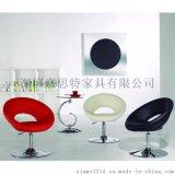 簡約時尚貝殼可升降時尚辦公椅北歐布藝休閒椅創意家具