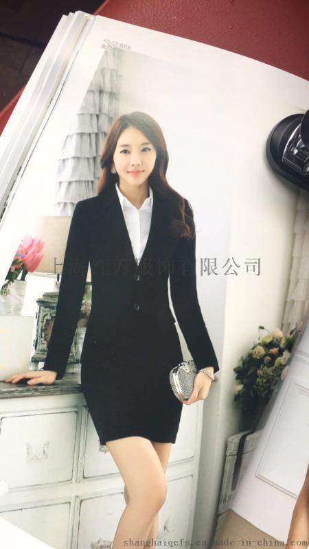 上海红万男女款职业西装 工作服西服定制