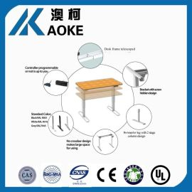 厂家爆款 电动单电机马达动力倒装2节智能办公升降桌 商用坐立交互办公桌