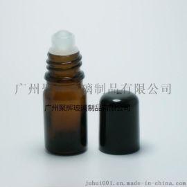 5ml茶色滚珠瓶 玻璃滚珠精油瓶 棕色精油分装瓶