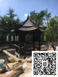 浙江碳化木亭子厂家 防腐木休闲亭 别墅木制凉亭