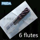 CNC硬质合金钨钢精加工6刃铣刀 5/6/810MM 6刃精铣刀