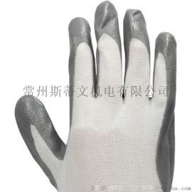 帶膠手套乳膠浸漬半掛膠手套勞保工作機械工  防滑包郵