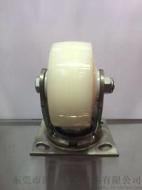 汇一脚轮 重型4寸不锈钢尼龙轮  万向白色