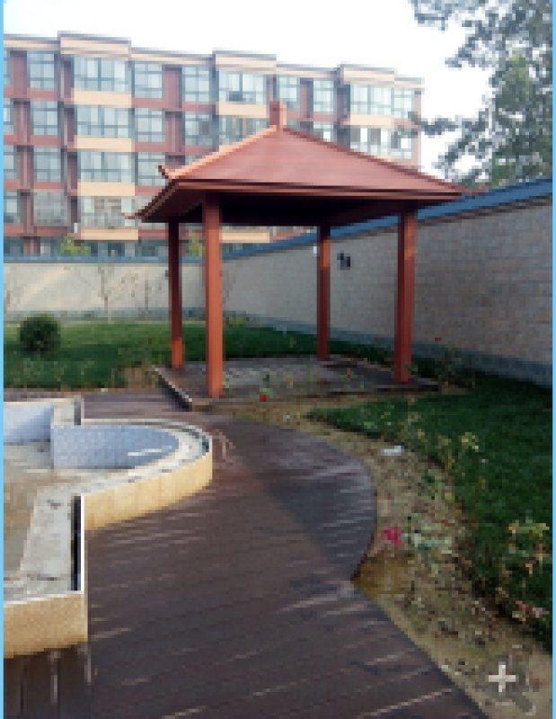 北京天津河北塑木护栏 木塑景观护栏 塑木栅栏