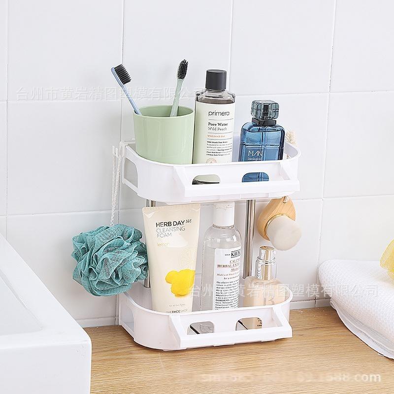 置物架优质不锈钢置物架浴室厨房收纳整理架墙壁吸盘创意货架
