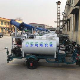工厂施工雾炮洒水车,小型电动三轮车喷雾车