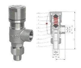 弹簧微启式外螺纹安全阀(A21H A21Y A21W A21F)