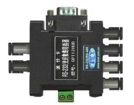 OPT12HUB 1路串口光纤扩2路光纤集线转换器