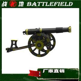 游艺气炮 仿古跑两轮古炮 古战车模型打靶娱乐设施