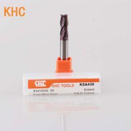 加工黄铜红铜紫铜 KHC钨钢铣刀数控刀具