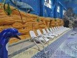 意大利進口沙灘躺椅時尚耐用室內外休閒椅