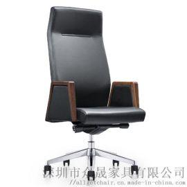 真皮大班椅 时尚办公椅 高背老板椅 现代电脑椅