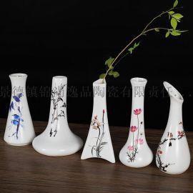 景德镇陶瓷小花瓶定制 客厅家居陶瓷花瓶工艺品摆件