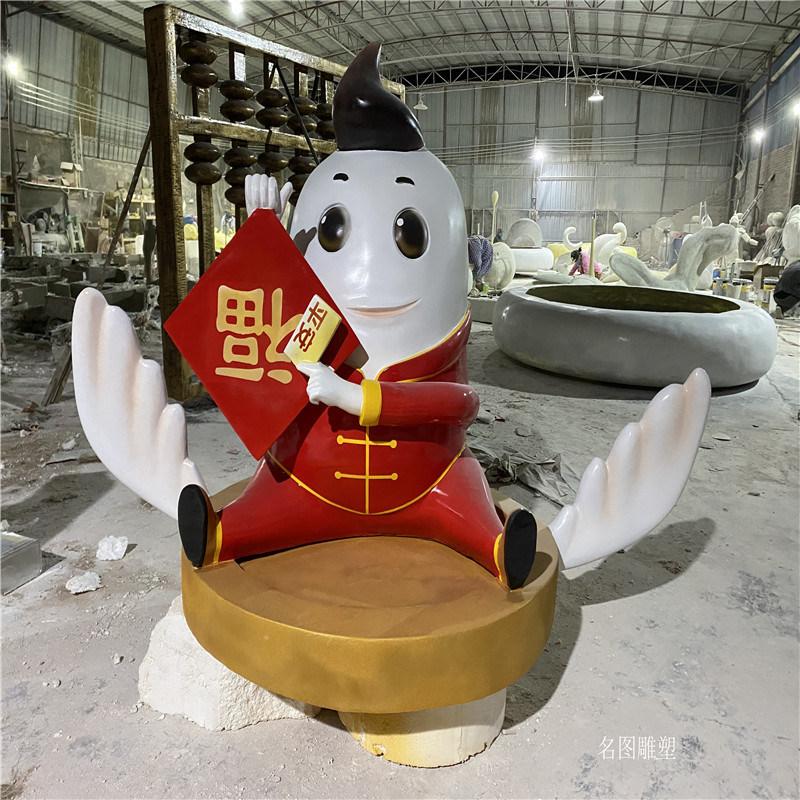 中山模型玻璃钢卡通雕塑 平安银行形象卡通雕塑造型