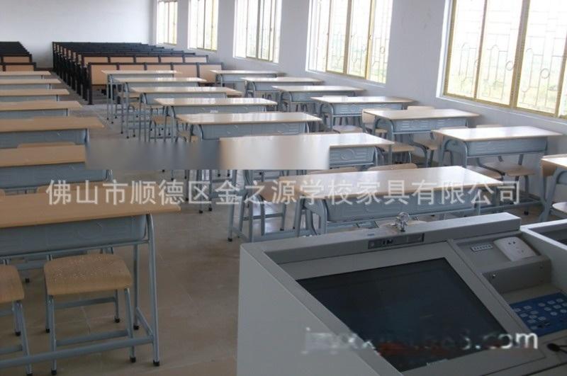 厂家直销善学双人中小学生课桌椅,培训桌辅导班书桌椅