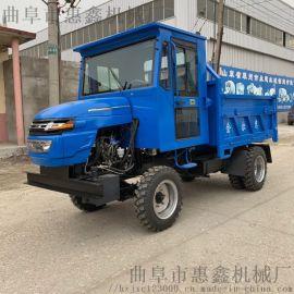 四轮驱动的柴油四不像 货厢加厚的四轮拖拉机