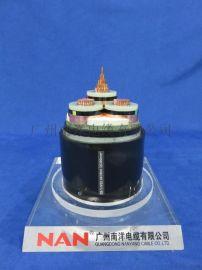 广东南洋南NAN牌35KV铜芯交联绝缘钢带铠装ZC-YJV22-3*300mm2电力电缆