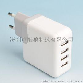 COOLWOLF酷狼5V4.8A USB智慧充電器