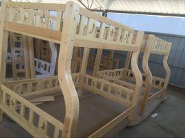 松木儿童子母床现代简约实木双层床
