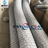 订做耐高温伸缩风管,夹布通风软管,钢圈夹玻璃纤维布耐高温风管