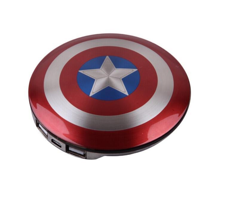 品牌MARVEC 漫威美国队长之盾牌移动电源3600毫安迪斯尼复仇者联盟