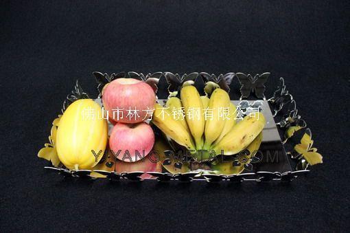 304精品不鏽鋼果盤 酒店精美擺設果盤 藝術創新果盤加工廠