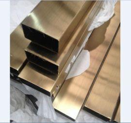 拉丝不锈钢焊管 广州钛金不锈钢方通