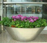 大型商場不鏽鋼花盆擺放 佛山寫字樓綠化環保不鏽鋼錐形大花器