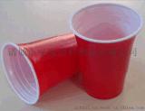 爆款 果汁杯 一次性 塑料杯 ps塑料雙色杯 雙色酒杯一次性塑料杯