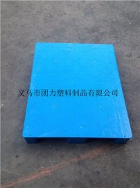 供应塑料托盘 浙江宁波平板九脚托盘 塑胶叉车