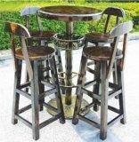 户外桌椅酒吧桌椅 防腐桌椅碳化木桌椅定制