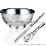 999足银纯银餐具,彩色银碗套装碗筷勺,商务送礼收藏礼品