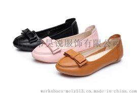 款号1525 一件起批 三色可选 真皮平跟休闲鞋 平底鞋 女 春款 浅口 尖头鞋