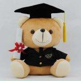 東莞廠家定製毛絨畢業熊公仔 禮品博士熊毛絨玩具公仔 可來圖定製