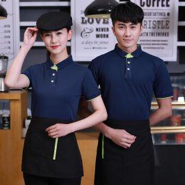 夏季快餐饮饭店工衣火锅海鲜寿司餐厅酒店服务员短袖男女工作服装