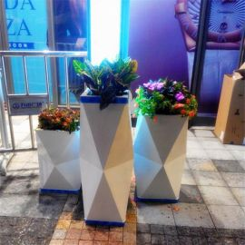 厂家定做玻璃钢花箱艺术户外花箱公司户外欧式花盆花箱 组合