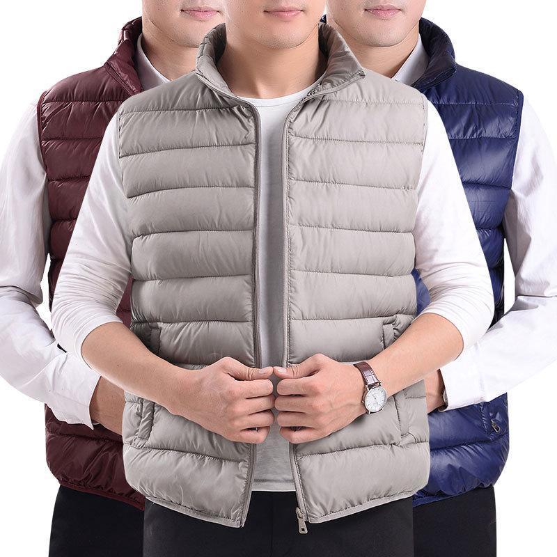 秋冬季时尚志愿者工作服男士保暖坎肩背心羽绒棉马甲来图印刷LOGO