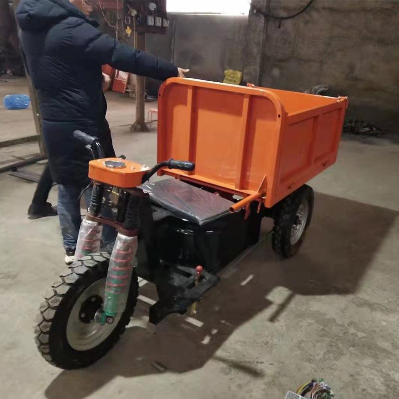 新款工程三轮车 小型电动工地三轮车 农用自卸工程车畅销