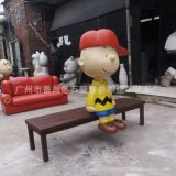 玻璃钢长凳雕塑 户外时尚休闲座椅雕塑制作